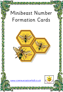 Minibeast Number Formation Cards