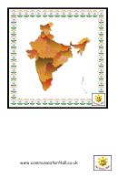 Indian Culture Flash Card Template