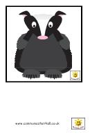 Woodland Creatures Flash Card Template
