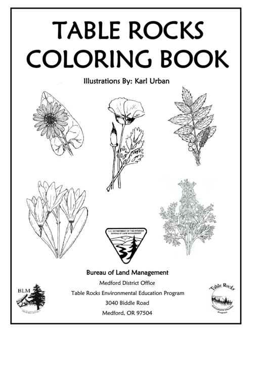 Table Rocks Coloring Book
