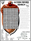 Acorn Word Search Puzzle Template With Answers