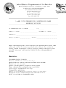 Sand Cove Primitive Camping Permit Application - United States Department Of The Interior