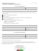 Form Boe-91-b - Tax/fee Payer Authorization For Tax Preparer To Perform Electronic Services