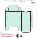 Tuck Box Template For Playing Cards With Total Deck Thickness Of 26,5 Mm