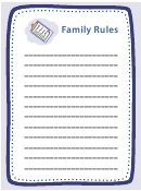 Family Rules Poster Template