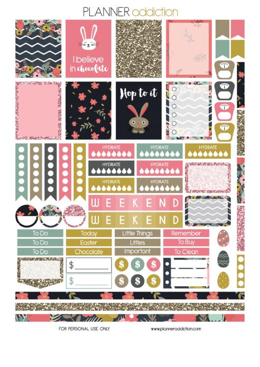 Easter Planner Sticker Templates