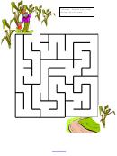 Fall Corn Maze Game Template