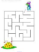 Fall Leaf Maze Game Template