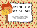 My Fall Color Words Book Coloring Sheets