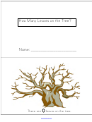 How Many Leaves On The Tree Kids Activity Sheets