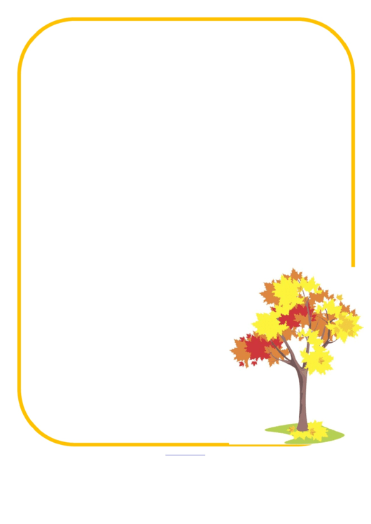 Yellow Border With Tree Picture Frame Template Printable pdf