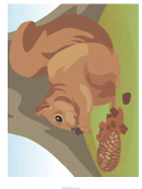 Squirrel Poster Template