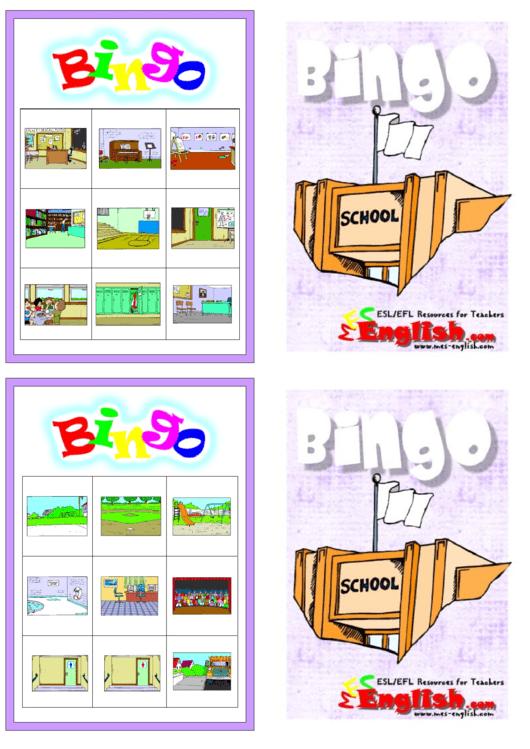 Color Bingo Flash Card Template