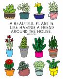 Color Beautiful Plants Bookshelf Poster Template