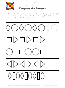 Black And White Patterns Worksheet Template
