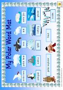 My Polar Word Mat Poster Template