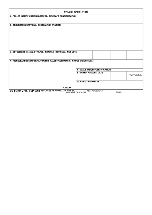 fillable dd form 2775