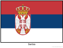 Serbia Flag Template