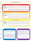 Priority Planner Templates