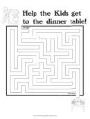 Kids Dinner Thanksgiving Maze Template
