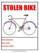 Stolen Bike Flyer Templates