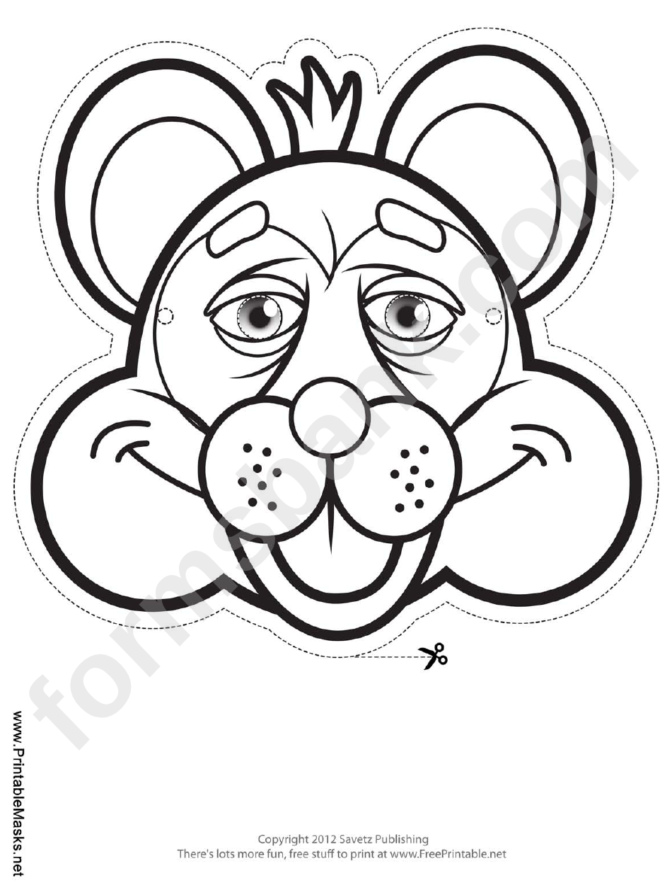 Raccoon Mask Outline Template printable pdf download