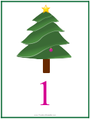 Number 1 Christmas Counting Template