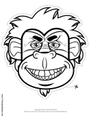 Gorilla Mask Outline Template