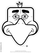 Eagle Mask Outline Template