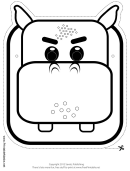 Hippo Mask Outline Template