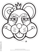 Raccoon Bow Mask Outline Template