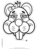 Beaver Ribbon Mask Outline Template