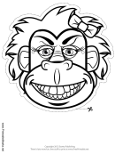 Gorilla Bow Mask Outline Template