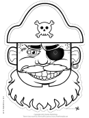 Pirate Hat Mask Outline Template
