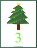 Number 3 Christmas Counting Template