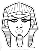 Egyptian Pharaoh Mask Outline Template