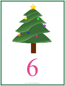 Number 6 Christmas Counting Template