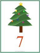 Number 7 Christmas Counting Template