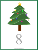 Number 8 Christmas Counting Template