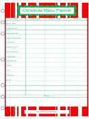 Christmas Menu Planner Template - Green And Red
