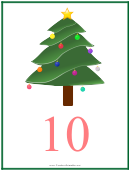 Number 10 Christmas Counting Template