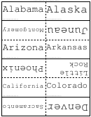 Us States Flash Card Template