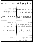 States And Slogans Flash Cards