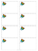 Butterfly Name Tag Template