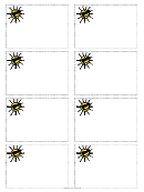 Sun Cool Name Tag Template