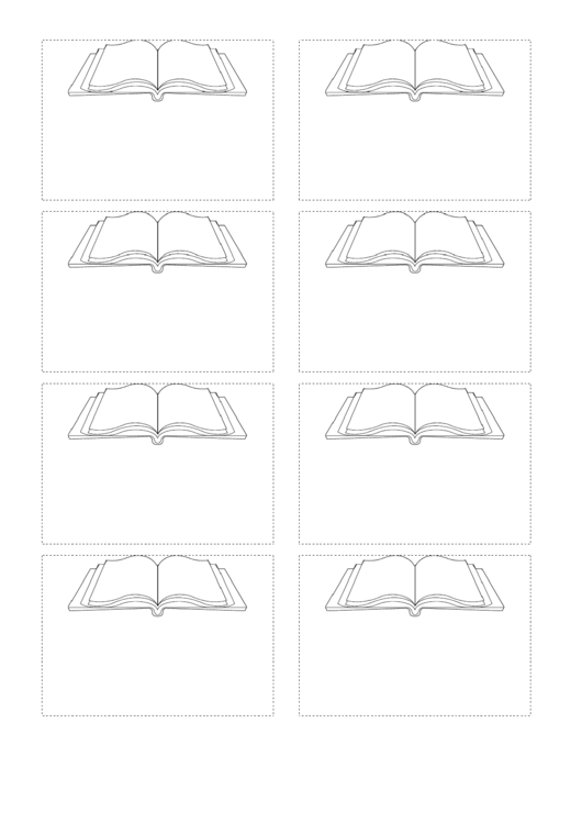 Book Name Tag Template Printable pdf