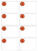 Basketball Name Tag Template