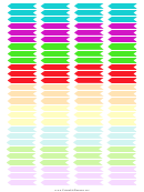 Colorful Banner Header Stickers