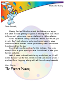 Easter Bunny Letter Template For A Boy