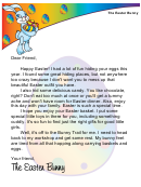 Easter Bunny Letter Template For A Girl